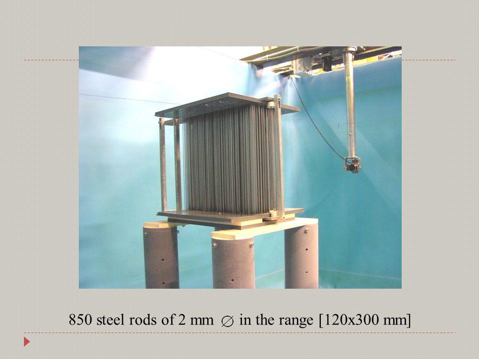 850 steel rods of 2 mm in the range [120x300 mm]